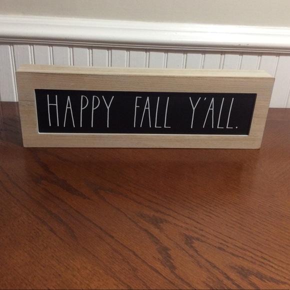 Rae Dunn HAPPY FALL Y'ALL Box Sign